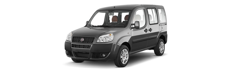 Renting a van with seating from 6 to 8 passengers.